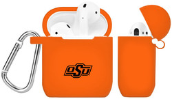 Oklahoma State Cowboys Silicone Case Cover Compatible with Apple AirPods Battery Case - Orange