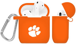Clemson Tigers Silicone Case Cover Compatible with Apple AirPods Battery Case - Orange