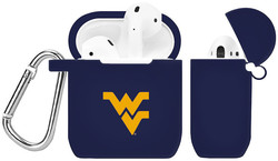 West Virginia Mountaineers Silicone Case Cover Compatible with Apple AirPods Battery Case - Navy Blue