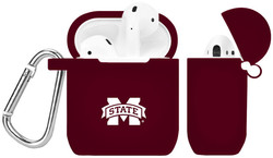 Mississippi State Bulldogs Silicone Case Cover Compatible with Apple AirPods Battery Case - Maroon