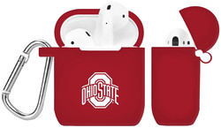 Ohio State Buckeyes Silicone Case Cover Compatible with Apple AirPods Battery Case - Crimson Red
