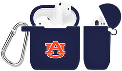 Auburn Tigers Silicone Case Cover Compatible with Apple AirPods Battery Case - Navy Blue