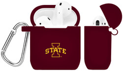 Iowa State Cyclones Silicone Case Cover Compatible with Apple AirPods Battery Case - Maroon