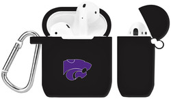 Kansas State Wildcats Silicone Case Cover Compatible with Apple AirPods Battery Case - Black