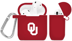 Oklahoma Sooners Silicone Case Cover Compatible with Apple AirPods Battery Case - Crimson Red