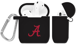 Alabama Crimson Tide Silicone Case Cover Compatible with Apple AirPods Battery Case - Black
