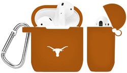 Texas Longhorns Silicone Case Cover Compatible with Apple AirPods Battery Case - Burnt Orange