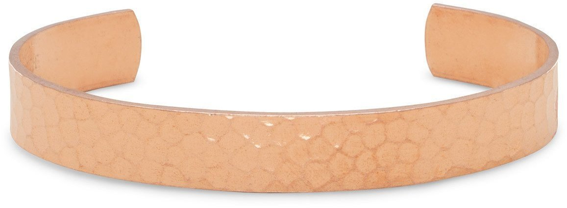 "9.5mm (3/8"") Hammered Solid Copper Cuff"