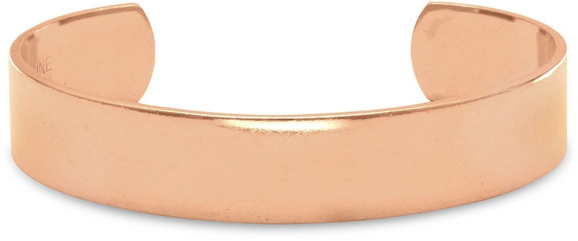 "12.5mm (1/2"") Polished Solid Copper Cuff Bracelet"