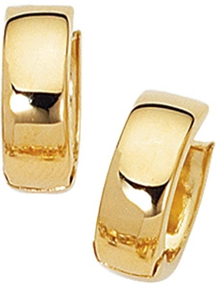 "14K Yellow Gold Polished 5.0mm (1/5"") Snuggable Earrings"
