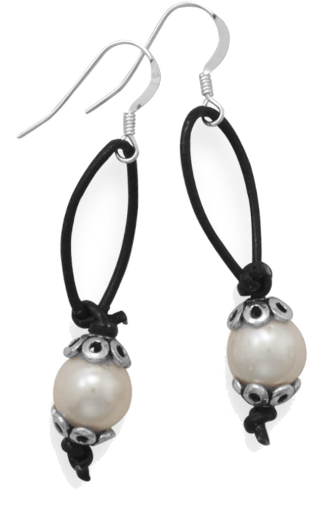 Susie Cultured Freshwater Pearl Earrings 925 Sterling Silver