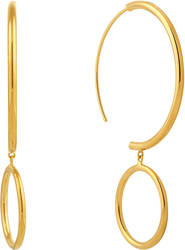 Ania Haie Gold-Plated Sterling Silver Double Hoop Earrings