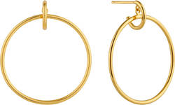 Ania Haie Gold-Plated Sterling Silver Front Hoop Earrings