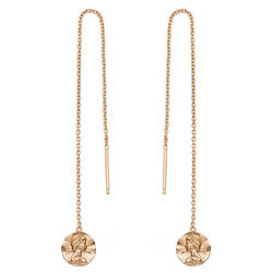 Ania Haie Rose Gold-Plated Sterling Silver Roman Empress Threader Earrings