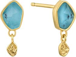 Ania Haie Gold-Plated Sterling Silver Simulated Turquoise Drop Stud Earrings