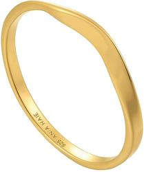 Ania Haie Gold-Plated Sterling Silver Modern Curve Ring