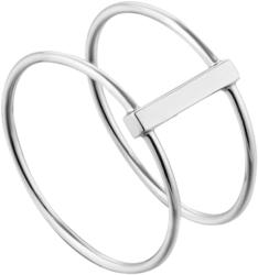 Ania Haie Rhodium-Plated Sterling Silver Modern Double Ring