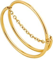 Ania Haie Gold-Plated Sterling Silver Modern Twist Chain Ring
