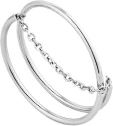 Ania Haie Rhodium-Plated Sterling Silver Modern Twist Chain Ring