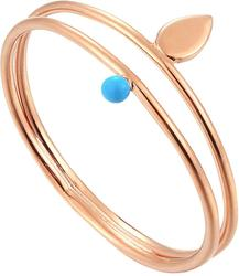 Ania Haie Rose Gold-Plated Sterling Silver Dotted Double Ring