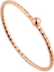 Ania Haie Rose Gold-Plated Sterling Silver Texture Small Ball Ring