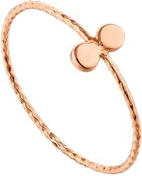 Ania Haie Rose Gold-Plated Sterling Silver Texture Double Disc Ring