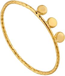 Ania Haie Gold-Plated Sterling Silver Texture Triple Disc Ring
