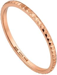 Ania Haie Rose Gold-Plated Sterling Silver Texture Band Ring
