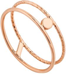 Ania Haie Rose Gold-Plated Sterling Silver Texture Double Band Ring