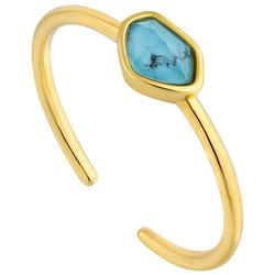 Ania Haie Gold-Plated Sterling Silver Simulated Turquoise Adjustable Ring