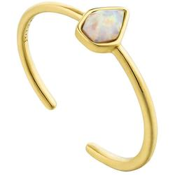 Ania Haie Gold-Plated Sterling Silver Simulated Opal Adjustable Ring