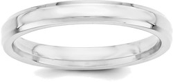 Sterling Silver 3mm Bevel Edge Band Ring