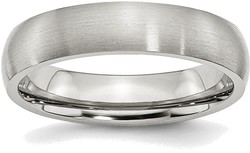 Stainless Steel 5mm Brushed Band Ring