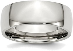 Stainless Steel 8mm Polished Band Ring
