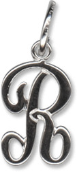 Beaucraft Sterling Silver Script Letter R Charm