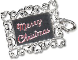 Beaucraft Sterling Silver Red Enameled Merry Christmas Charm