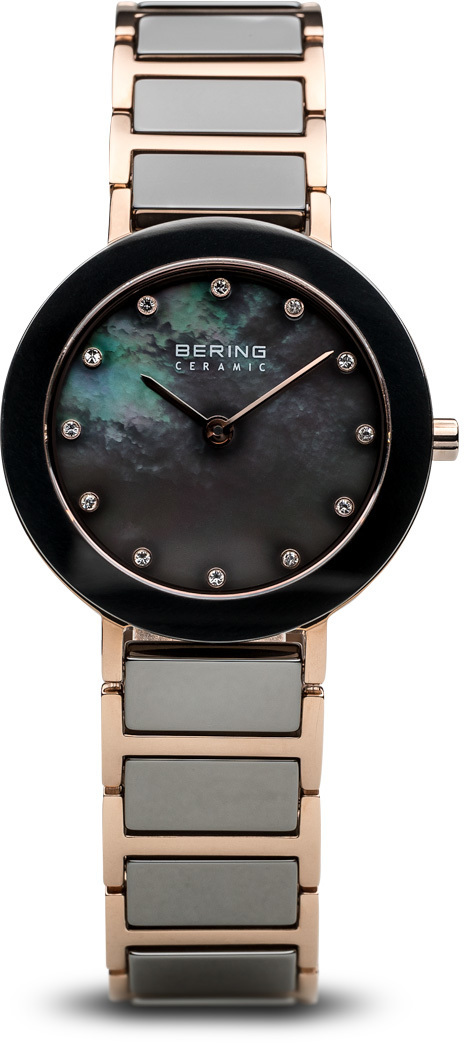 Bering Time Watch - Ceramic - Womens Polished Rose Gold-Tone 11429-769