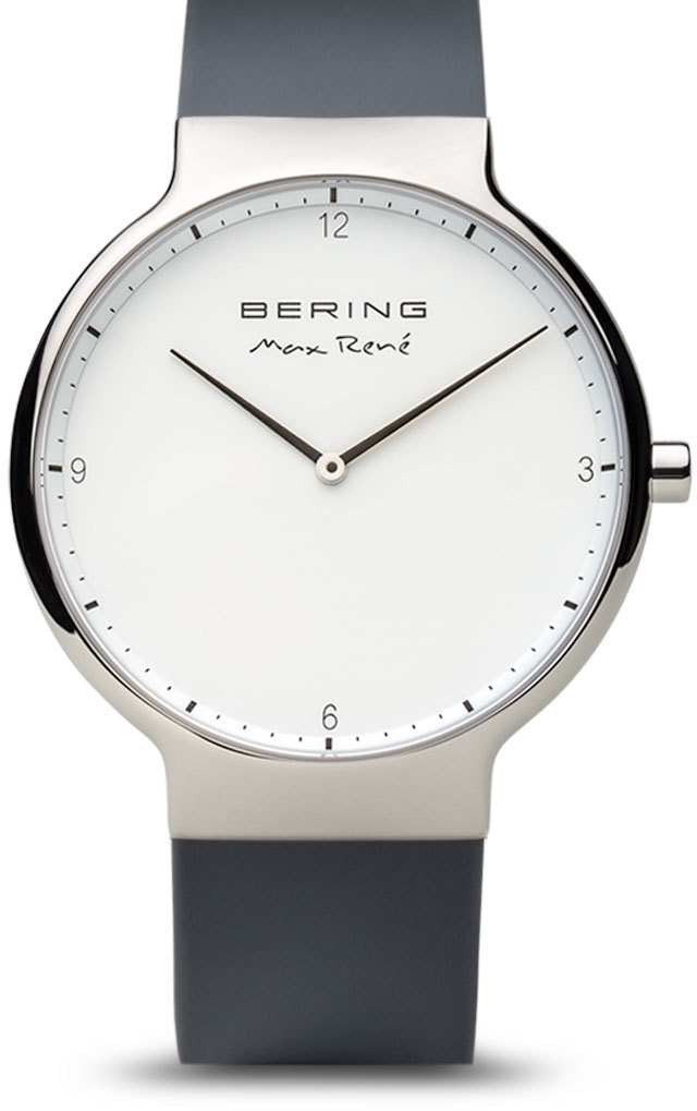 Bering Time Watch - Max Rene - Mens Polished Silver-Tone 15540-400
