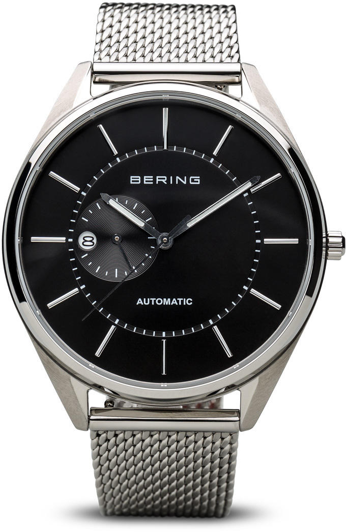 Bering Time Watch - Automatic - Mens Polished Silver-Tone 16243-077
