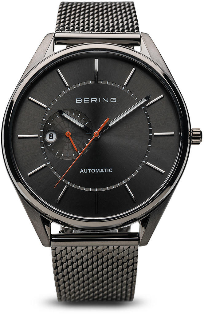Bering Time Watch - Automatic - Mens Brushed Grey 16243-377