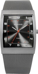 Bering Time - Classic - Mens Silver Titanium Case Mesh Watch 11233-077