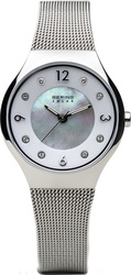 Bering Time Watch - Solar - Womens Polished Silver-Tone 14427-004