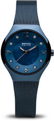 Bering Time Watch - Solar - Womens Polished Blue 14427-393
