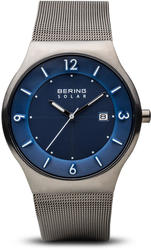 Bering Time Watch - Solar - Mens Brushed Grey 14440-007