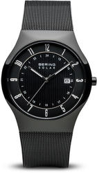 Bering Time Watch - Solar - Mens Polished Black 14640-222