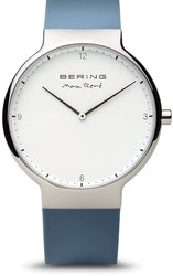 Bering Time Watch - Max Rene - Mens Polished Silver-Tone 15540-700