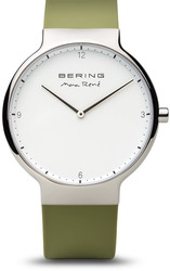 Bering Time Watch - Max Rene - Mens Polished Silver-Tone 15540-800