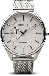 Bering Time Watch - Automatic - Mens Polished Silver-Tone 16243-000