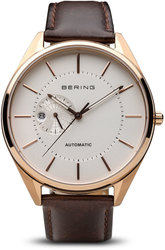 Bering Time Watch - Automatic - Mens Rose Gold-Tone 16243-564