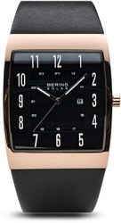 Bering Time Watch - Solar - Mens Polished Rose Gold-Tone 16433-462